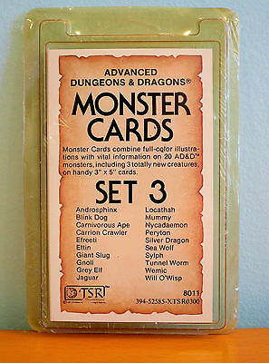 NEW AD&D 1st Edition Monster Cards Volume 3