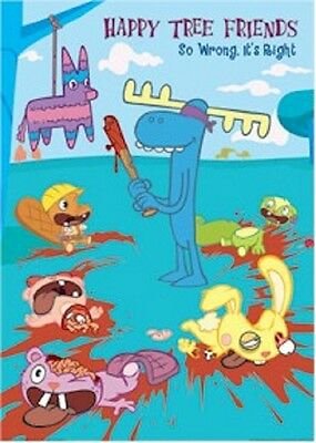 """Happy Tree Friends Poster """"so Wrong It's Right"""" Licensed """"brand New"""""""