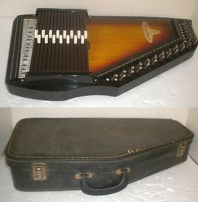 ChromAharp 35 String AutoHarp Zither by Rhythm Band Inc ~ W/ Case & Tuning Tool