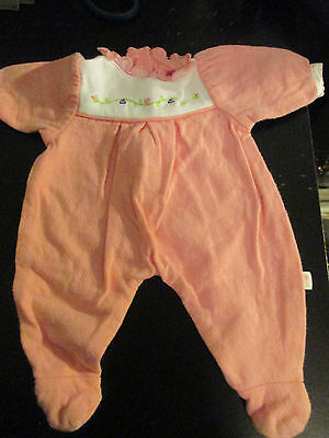 VINTAGE DOLL CLOTHES~PRETTY in PINK FLANNEL FOOTED JAMMIES