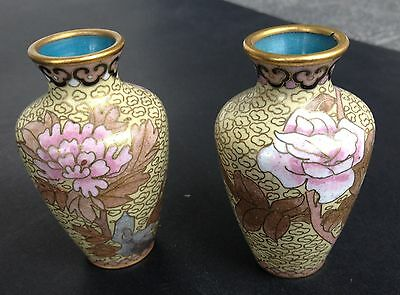 Antique Chinese Cloisonne Vases