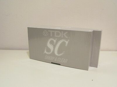 2 x TDK SC Blank VHS Video Tapes New & Unopened