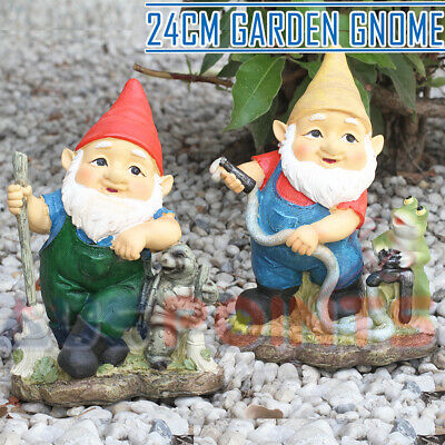 24CM Funny Garden Mooning Gnome - Ornament Figurine Happy Gnomes Frog Turtle