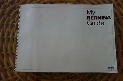 Bernina Record 830 Instruction Manual,excellent Vintage Condition,advertising