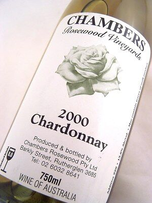 2000 CHAMBERS Rosewood Winery Chardonnay C Isle of Wine
