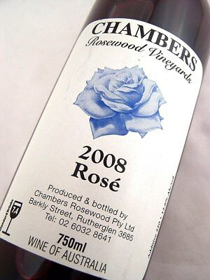 2008 CHAMBERS Rosewood Winery Rose Isle of Wine