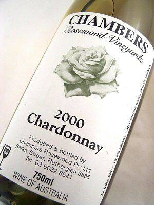 2000 CHAMBERS Rosewood Winery Chardonnay B Isle of Wine