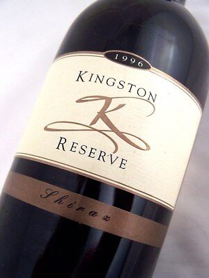 1996 KINGSTON ESTATE Wines Reserve Shiraz A Isle of Wine