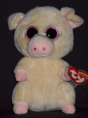 "TY BEANIE BOOS BOO'S - PIGGLEY the 6"" PIG - MINT with MINT TAGS"