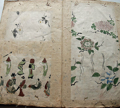 1850s Japanese Collection Book : Hand Painted Pattern Designs