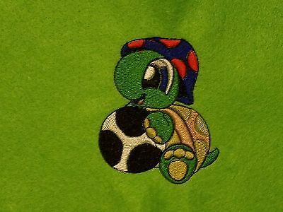 Personalized Embroidery Baby Fleece Blanket With A Turtle And Ball