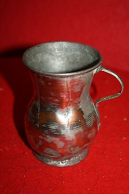 Antique Primitive Rustic Drinking Cup Mug  Copper & Tin?