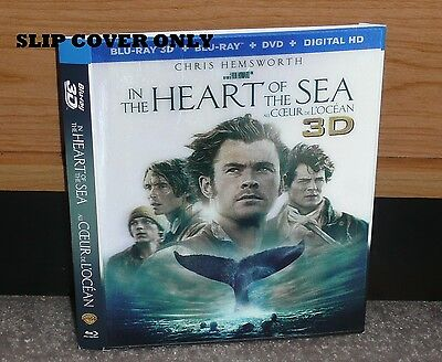 SLIP COVER (SLEEVE ONLY) IN THE HEART OF THE SEA - 3D Bluray Lenticular NO DISCS