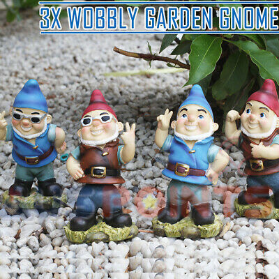16cm Garden Funny Gnome Wobbly Body Figurine Ornament Figurine Statue Gnomes