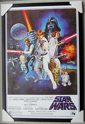 """STAR WARS framed POSTER """"MOVIE COVER"""" Ready to Hang LICENSED POSTER IN FRAME"""