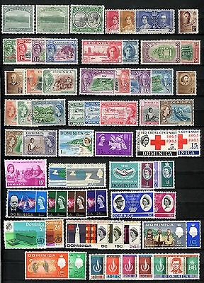 Dominica Stamps 1903 – 1968 **** 62 Stamps ***** 59 Mint / Mnh