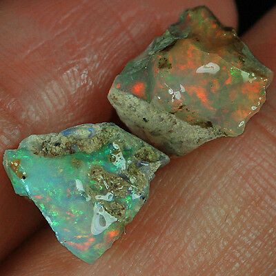 7.8CT 100% Natural Ethiopian Play Of Color Welo Opal Collectible UYOL1013