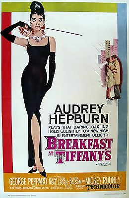 Breakfast At Tiffany's Poster Size A1 Audrey Hepburn