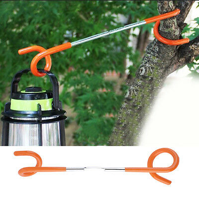 2-way Lantern Light Lamp Hanger Tent Pole Post Hook Outdoor Camping BS