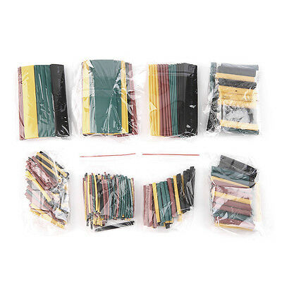 328Pcs 5 Colors 8 Sizes 2:1 Heat Shrink Tubing Wrap Connection Sleeve Kit BS