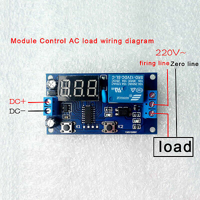 DC 12V Digital Display Trigger Cycle Time Delay Relay Module Board BS