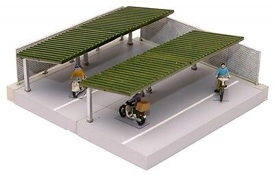 Tomytec Parking Lot for Bicycles B (Green Roof) 1/150 N scale Komono 096