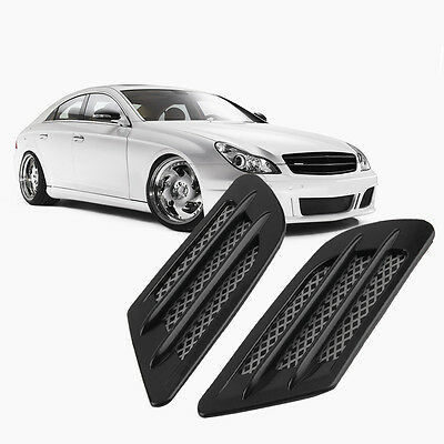 Car Side Air Flow Vent Hole Cover Fender Intake Grille Decoration Sticker BS