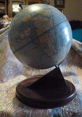 ~ Retro Vintage Tin World Globe made by Chad Valley England, Queen's Toy makers