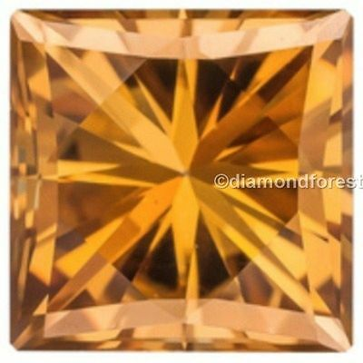 Brilliant cut Princess fiery real brown color 8.00 mm loose moissanite 2.00 ct