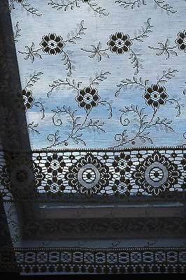 "Vintage c1930 Arts & Crafts period shabby chic coton lace curtain panel 33""/36"""