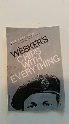 Arnold Wesker Chips with Everything 1963 Royal Court Theatre program