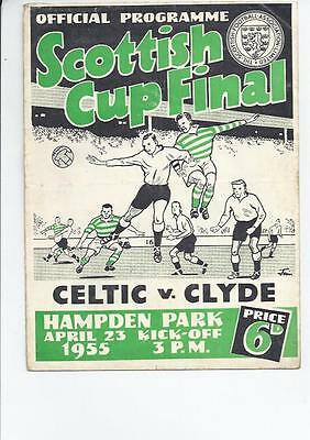 Celtic v Clyde Scottish Cup Final Football Programme 1955 April 23rd