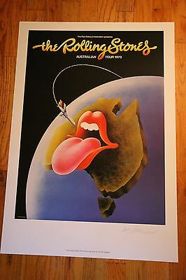 The ROLLING STONES Australia Tour 1973 Art Print Poster Official Lithograph
