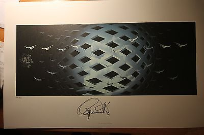 The WHO Hand Signed Art Print TOMMY S/N Roger Daltrey COA+Signing Pic
