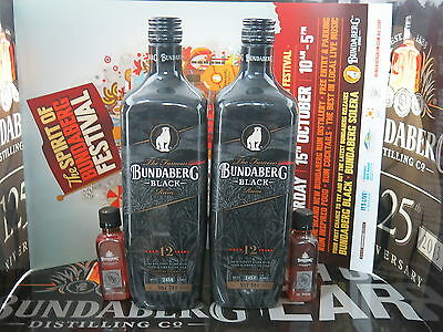 Bundaberg Rum Black Vat 244 Consecutive No's, 2456 & 2457 + 2 MDC BB 50ml,Poster