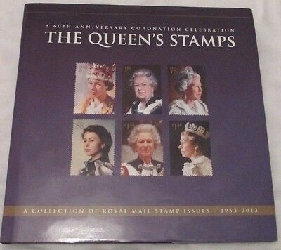 Hardback Stamp Book - 'A 60th Anniv. Coronation Celebration The Queen's Stamps'