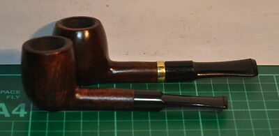 """A Pair Of Ok Condition Smooth Straight """"hardcastle Drawel"""" Lovat Estate Pipes."""