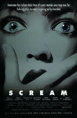 """Scream poster """"cover"""" brand new """"Wes Craven"""" Neve Campbell """"1996"""" 24in X 36in"""