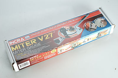 (E) NEW Incra V27 Table Saw Miter Gauge w/27 Laser Cut V-Stops for Accuracy