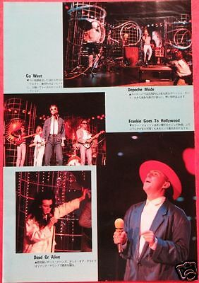 Depeche Mode Pete Burns Dead Or Alive Go West 1985 Clipping Japan Ml 10A