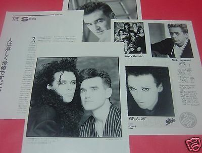 Pete Burns Dead Or Alive Morrissey The Smiths 1986 Clippings Japan Ml 2A 4Page
