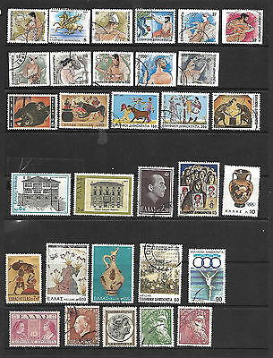 Collection Of Greek Stamps