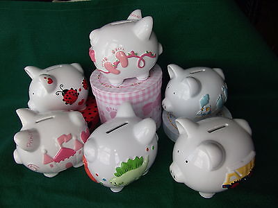 Personalised Ceramic Piggy Bank In Gift Box   -   Ornament / Decoration