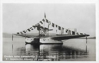 1933 Italy - Brazil Savoia Marchetti S55X Flying Boat Unused RP Postcard