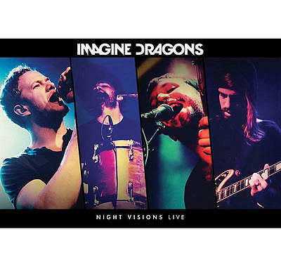 """Imagine Dragons Poster """"licensed"""" Brand New """"night Visions Live"""""""