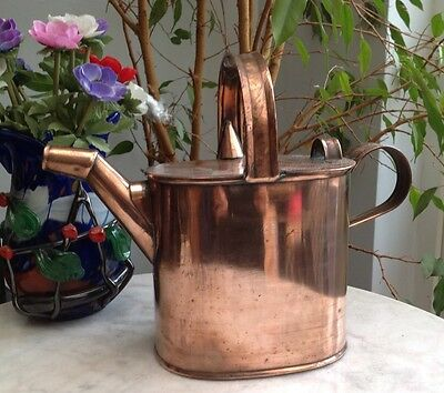 VICTORIAN copper watering can Christopher Dresser style STAMPED TO BASE 3 F