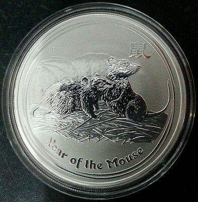 2008 Lunar Year of the Mouse - 1oz .999 fine silver coin