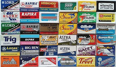 DE Razor Blade Sample Pack CREATE YOUR OWN full pack mixed Double Edge Safety UK