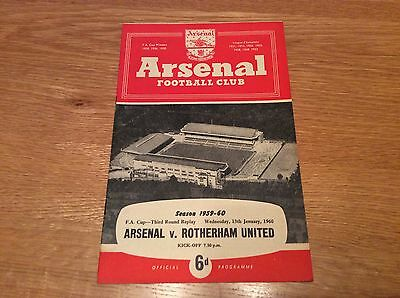 1959/60 Arsenal v Rotherham Utd.  FA Cup Rd 3 Replay