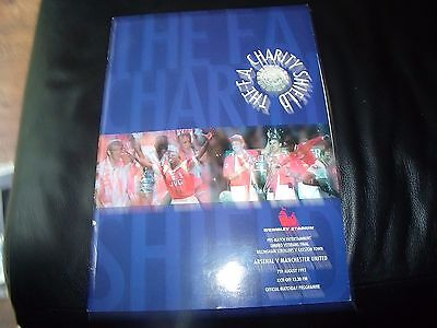 arsenal v man utd 7/8/1993 charity shield